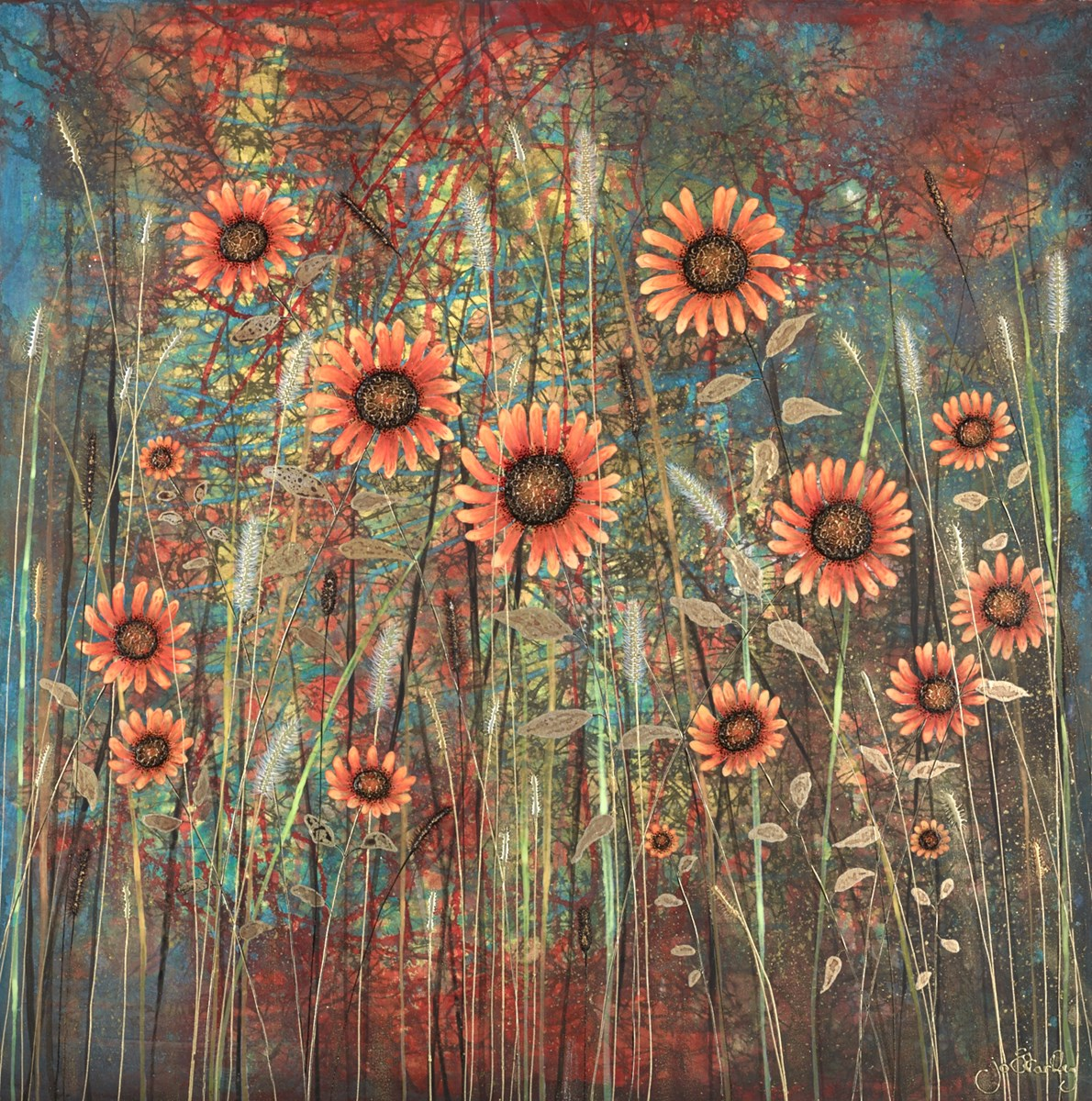 Summer is Golden by jo starkey -  sized 32x32 inches. Available from Whitewall Galleries